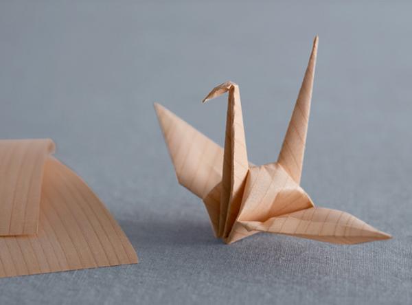 温もりと香りがすてきな木の折り紙『きのかみ』