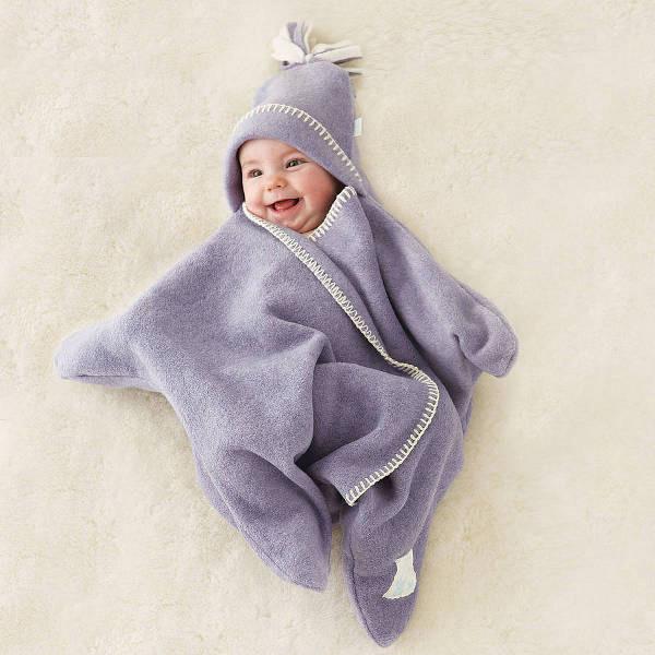 星のかたちをした赤ちゃんのおくるみ『Star Fleece Baby Wrap』