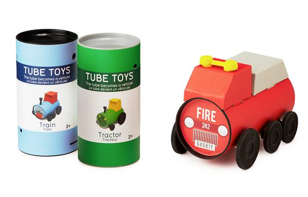 パッケージングが秀逸なエコ玩具『Tube Toys』